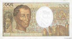 200 Francs MONTESQUIEU FRANCE  1989 F.70.09 TTB