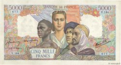 5000 Francs EMPIRE FRANÇAIS FRANCE  1944 F.47.08 TTB