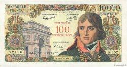 100 NF sur 10000 Francs BONAPARTE FRANCE  1958 F.55.01 TTB+
