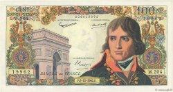 100 Nouveaux Francs BONAPARTE FRANCE  1962 F.59.18 pr.SPL