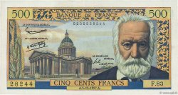 500 Francs VICTOR HUGO FRANCE  1957 F.35.07 SUP+