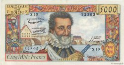 5000 Francs HENRI IV FRANCE  1957 F.49.02 SUP