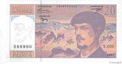 20 Francs DEBUSSY Modifié FRANCE  1997 F.66ter.02 pr.NEUF