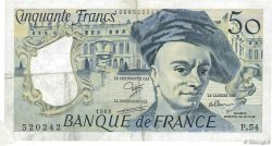50 Francs QUENTIN DE LA TOUR FRANCE  1988 F.67.14 TTB