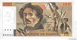 100 Francs DELACROIX modifié FRANCE  1980 F.69.04a SUP+