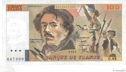 100 Francs DELACROIX modifié FRANCE  1985 F.69.09 pr.SUP