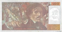 100 Francs DELACROIX imprimé en continu FRANCE  1990 F.69bis.01b3 TTB