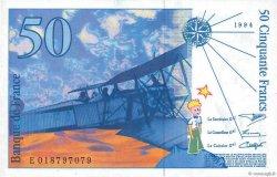 50 Francs SAINT-EXUPÉRY Modifié FRANCE  1994 F.73.01c NEUF