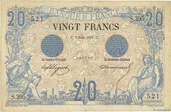 20 Francs NOIR FRANCE  1875 F.09.02 TTB