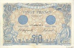 20 Francs BLEU FRANCE  1906 F.10.01 SPL+