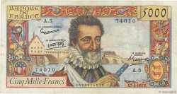 5000 Francs HENRI IV FRANCE  1957 F.49.01 TB+