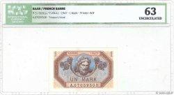 1 Mark SARRE FRANCE  1947 VF.44.01 pr.NEUF