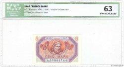 5 Mark SARRE FRANCE  1947 VF.46.01 pr.NEUF