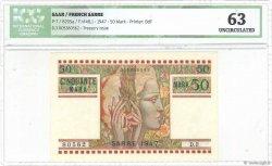 50 Mark SARRE FRANCE  1947 VF.48.01 pr.NEUF