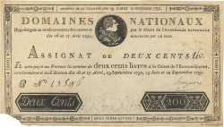 200 Livres FRANCE  1791 Ass.17a TTB