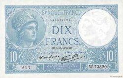 10 Francs MINERVE modifié FRANCE  1939 F.07.10 SPL+