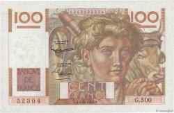 100 Francs JEUNE PAYSAN filigrane inversé FRANCE  1952 F.28bis.01 SPL+