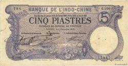5 Piastres INDOCHINE FRANÇAISE Saïgon 1915 P.037b TTB