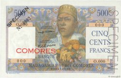 500 Francs COMORES  1960 P.04s2 SUP