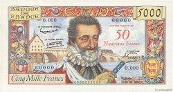50 NF sur 5000 Francs HENRI IV FRANCE  1958 F.54.00 NEUF