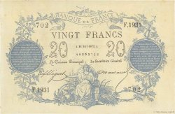 20 Francs type 1871 FRANCE  1873 F.A46.04 SUP+