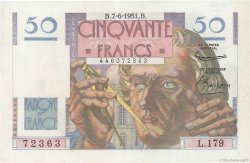 50 Francs LE VERRIER FRANCE  1951 F.20.18 SPL+