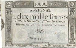 10000 Francs FRANCE  1795 Ass.52a TTB