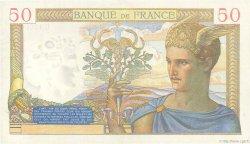 50 Francs CÉRÈS modifié FRANCE  1940 F.18.37 SUP+