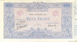 1000 Francs BLEU ET ROSE  FRANCE  1924 F.36.40