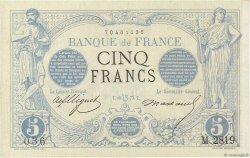 5 Francs NOIR FRANCE  1873 F.01.20 SUP+