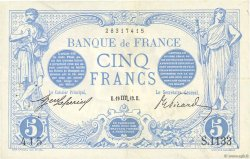 5 Francs BLEU FRANCE  1912 F.02.08 TTB+