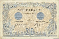 20 Francs NOIR FRANCE  1904 F.09.03 B+