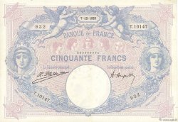 50 Francs BLEU ET ROSE FRANCE  1923 F.14.36 TTB+