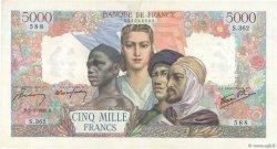 5000 Francs EMPIRE FRANÇAIS FRANCE  1945 F.47.16 pr.SUP