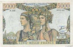 5000 Francs TERRE ET MER FRANCE  1953 F.48.08 SUP+