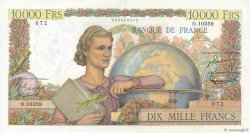 10000 Francs GÉNIE FRANÇAIS FRANCE  1956 F.50.78 SPL