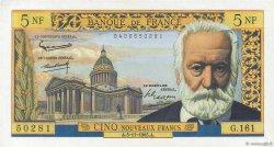 5 Nouveaux Francs VICTOR HUGO FRANCE  1965 F.56.21 SPL
