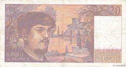 20 Francs DEBUSSY FRANCE  1984 F.66.05 pr.TTB