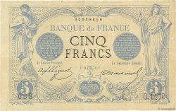 5 Francs NOIR FRANCE  1872 F.01.11 pr.TTB
