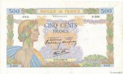 500 Francs LA PAIX FRANCE  1940 F.32.00 SUP