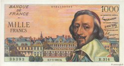 1000 Francs RICHELIEU FRANCE  1957 F.42.25 AU+