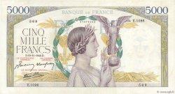 5000 Francs VICTOIRE Impression à plat FRANCE  1942 F.46.44 pr.SPL