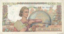 10000 Francs GÉNIE FRANÇAIS FRANCE  1949 F.50.23 pr.TTB