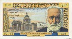 5 Nouveaux Francs VICTOR HUGO FRANCE  1959 F.56.04 SPL