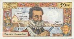 50 Nouveaux Francs HENRI IV FRANCE  1961 F.58.06 pr.SPL