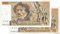 100 Francs DELACROIX  UNIFACE FRANCE  1995 F.69u.03 TTB
