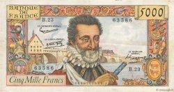 5000 Francs HENRI IV FRANCE  1957 F.49.03 TTB