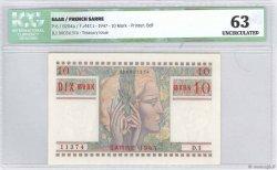 10 Mark SARRE FRANCE  1947 VF.47.01 pr.NEUF
