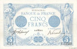 5 Francs BLEU FRANCE  1916 F.02.42 TTB+