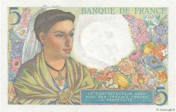 5 Francs BERGER FRANCE  1943 F.05.02 pr.SPL
